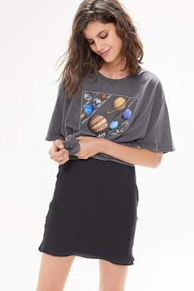 Urban Outfitters Rosa Satin Slip Mini Skirt