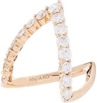 Anita Ko Rose Gold Diamond V Ring
