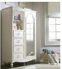 Wendy Bellissimo by LC Kids Harmony Mirrored Door 4 Drawer Combo Dresser