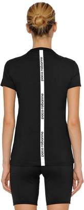 Paco Rabanne Back Logo Jersey Cotton T-Shirt