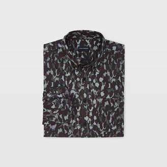 Club Monaco Slim Camo Flannel Shirt