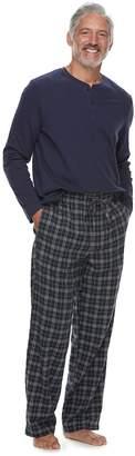 Croft & Barrow Men's Henley & Plaid Flannel Lounge Pants Gift Set