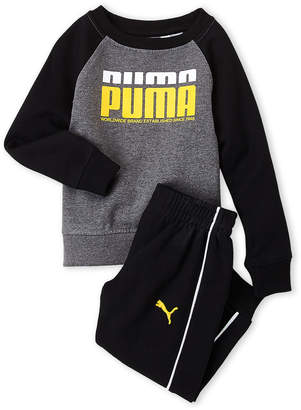 Puma Toddler Boys) Two-Piece Logo Pullover & Sweatpants Set