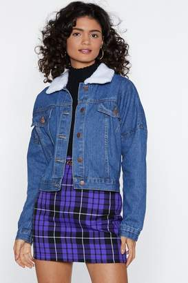 Nasty Gal Another Day Another Collar Denim Jacket