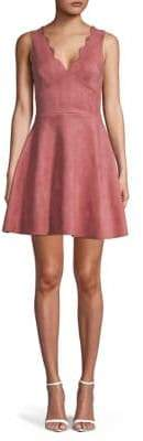 Lord & Taylor Design Lab Scalloped Fit--Flare Dress