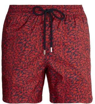 Vilebrequin Mahina Flocked Fish Print Swim Shorts - Mens - Red Multi