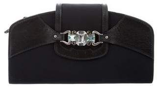 Giuseppe Zanotti Leather-Trimmed Embellished Clutch