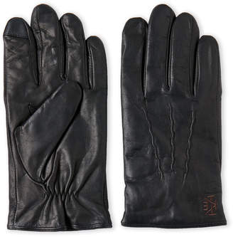 Ike Behar Ike By Wool-Lined Leather Touch Gloves