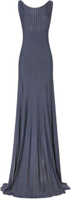 Zac Posen Embroidered Radiant Ribbed-Knit Gown