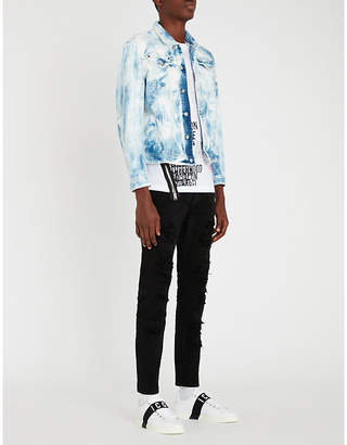 DSQUARED2 Dan bleached denim jacket