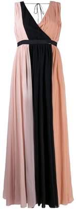 Liu Jo gathered colour block gown