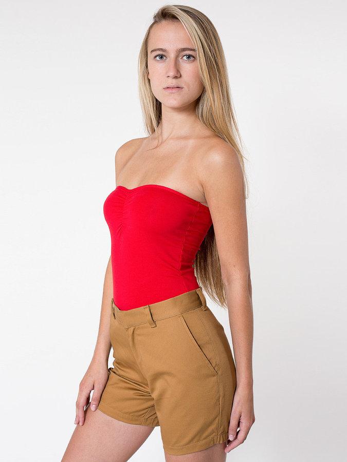 Unisex Cotton Twill Welt Pocket Short