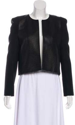 Pierre Balmain Wool and Leather Blazer