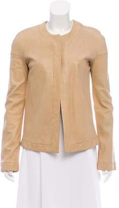 Helmut Lang Collarless Leather Jacket