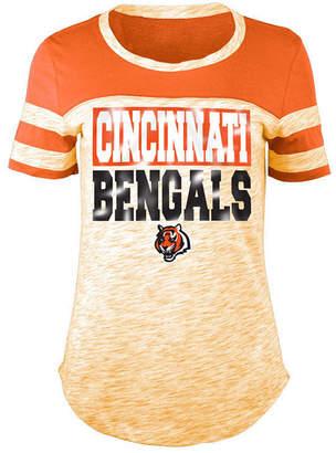 5th & Ocean Women's Cincinnati Bengals Space Dye Foil T-Shirt