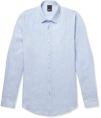 HUGO BOSS Lukas Garment-Dyed Linen Shirt