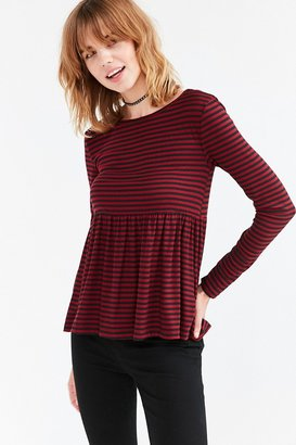Kimchi Blue First Date Long-Sleeve Peplum Tee $44 thestylecure.com