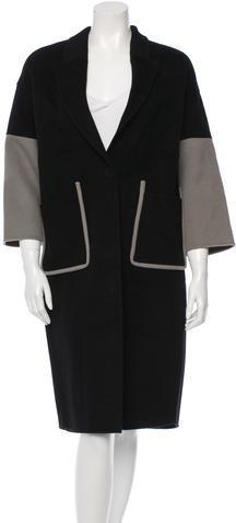 CelineCéline Wool & Camel Blend Coat
