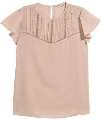 H&M Blouse with Pin-tucks - Pink