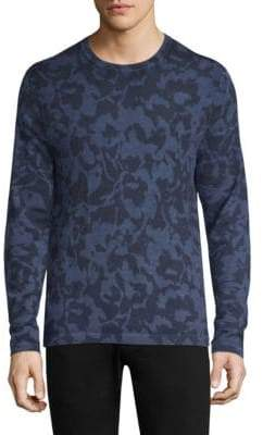 Michael Kors Abstract Floral Crew Sweater