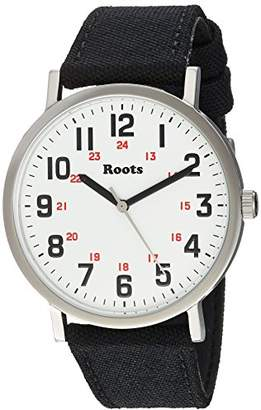 Roots 'Core' Quartz Stainless Steel and Canvas Casual Watch