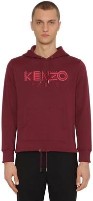 Kenzo Embroidered Jersey Sweatshirt Hoodie