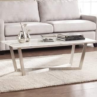 Brayden Studio Rosenbalm Faux Marble Coffee Table