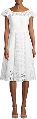 Milly Cathy Eyelet A-Line Dress