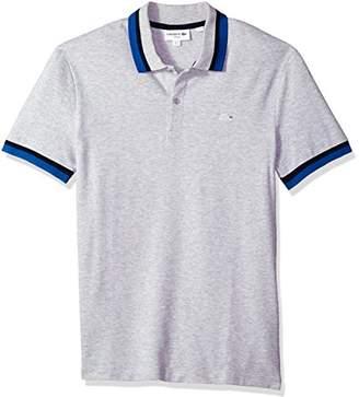 Lacoste Men's Short Sleeve Semi Fancy Pique Pima Stretch Slim Polo