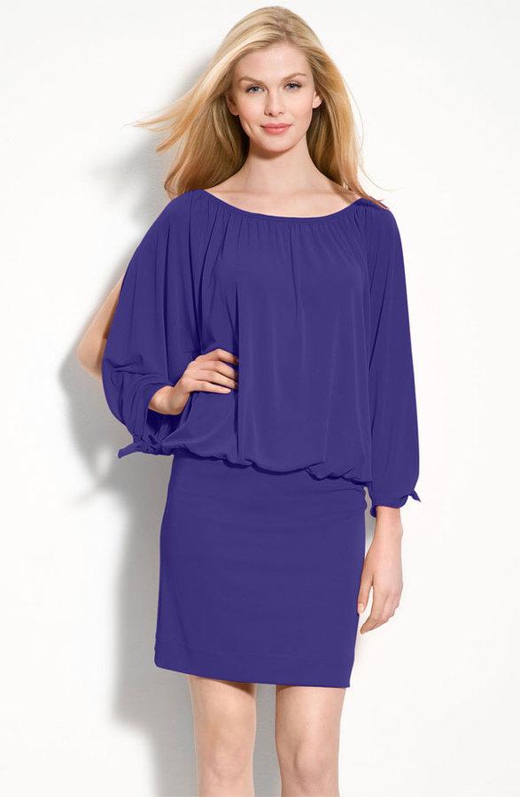 Nicole Miller Open Sleeve Jersey Dress