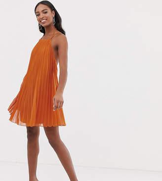 15d2c810b66 Asos Tall DESIGN Tall mini trapeze pleat dress