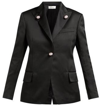 Wales Bonner Holkar Satin Jacket - Womens - Black