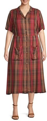 Romantic Gypsy Women's Plus Size Shirt Dress