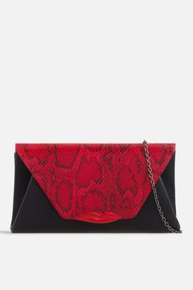Couture **Snakeskin Envelope Clutch Bag by Koko