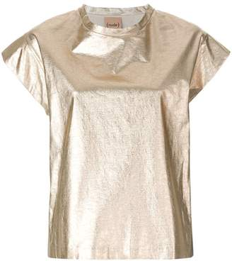 Nude relaxed style T-shirt