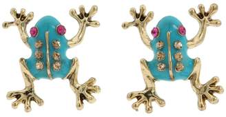 Betsey Johnson Frog Stud Earrings Earring