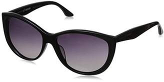 Hang Ten Gold Women's Fashionable HTG1021 C1 Polarized Round Sunglasses