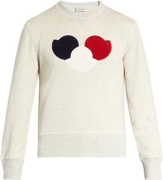 MONCLER Cotton-jersey sweatshirt $345 thestylecure.com