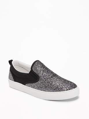 Old Navy Glitter Slip-Ons for Girls
