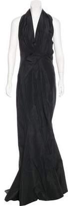 J. Mendel Silk Faille Gown