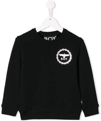 Boy London Kids logo long-sleeve sweatshirt