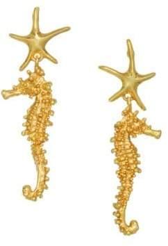 Oscar de la Renta Goldtone Sea-Horse Drop Earrings
