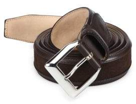 Sutor Mantellassi Truman Veloucal Adjustable Leather& Suede Belt