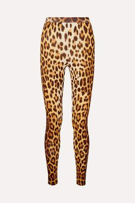 Moschino Leopard-print Stretch-knit Leggings