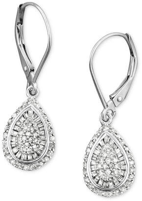 Wrapped in Love Diamond Teardrop Earrings in 14k White Gold (1/2 ct. t.w.)