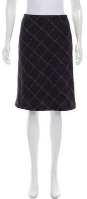 Akris Plaid Knee-Length Skirt