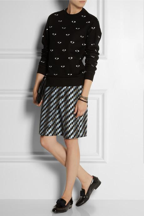 Kenzo Eye-print cotton sweatshirt