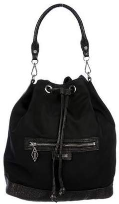 MZ Wallace Leather Trimmed Nylon Bucket Bag