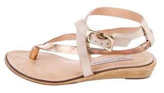 Diane von Furstenberg Metallic Thong Sandals