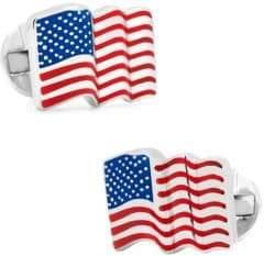 Cufflinks Inc. Cufflinks, Inc. Waving American Flag Cufflinks